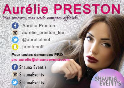 Aurélie Preston / Shauna Events 2016
