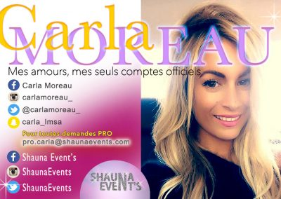 Carla Moreau / Shauna Events 2016